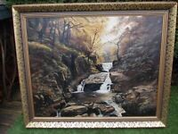 2 x ORIGINAL OIL ON CANVAS PAINTINGS by JOHN GINNELL 1900 1980