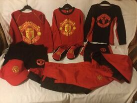 Official Man Utd Merchandise, for kids/ teenager. Used but all in exc./v. gd./ gd. condition.