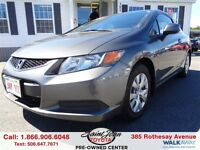 2012 Honda Civic LX Coupe $105.30 BI WEEKLY!!!