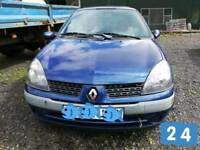 2002 Renault Clio Expression DCI 65,Blue,5 door, Diesel, 1,461 cc, 65 BHP. For Breaking.