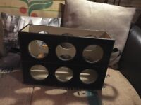 Leatherette 6 bottle wine rack carrier