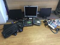 Job lot of monitors, telephone, mouses, & keyboards