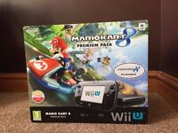 Nintendo wii U console 32GB with gamepad and 3 games