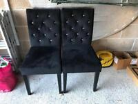 2 next black chairs