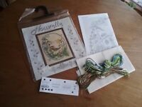 Vintage DMC Nouvelle 'Sunny Meadows' Counted Cross Stitch Kit