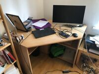 Wooden Desk with Storage Space