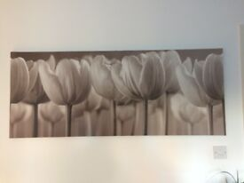 canvas picture, wall art, flowers