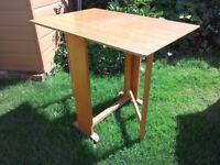 Slim drop leaf table