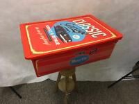 Large Red Plastic Vintage Retro Car Design Box - STA21