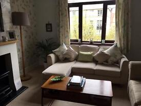 DFS 3 Seat sofa/couch with footstool SOLD