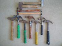 Hammers x 9 + Mallets x 2 (Job Lot)