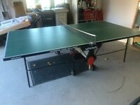 Butterfly rollaway table tennis table.