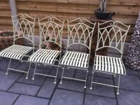 New / Boxed, Four Quality Garden Dining Chairs.