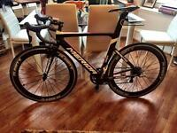 Merida Reacto Team Lampre road bike, Planet X carbon 60 wheelset size 54cm