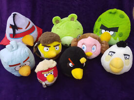 """Angry birds - set of 9 plush toys (1x5"""", 5x7"""", 2x10"""" and 1x12"""")"""