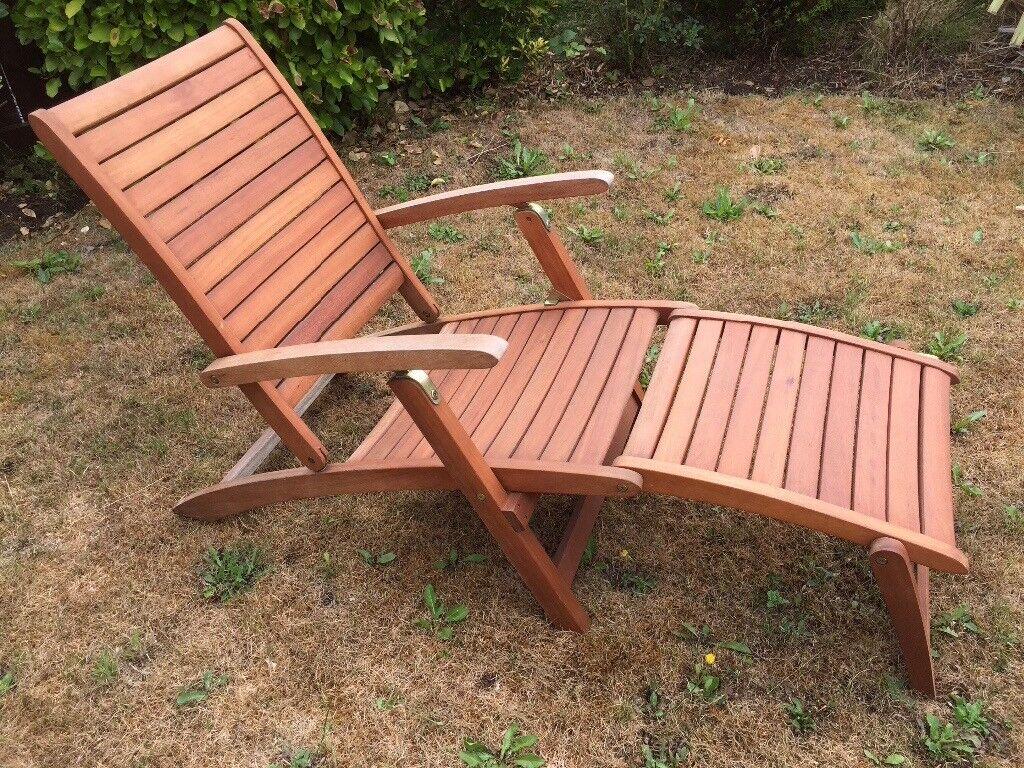 Homebase Peru Wooden Lounger Steamer Chair | in Warrington, Cheshire ...