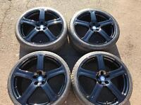 """22"""" REVERE MINT CONDITION GLOSS ALLOYS WHEELS- 5x112 FITS MERCEDES AUDI BENTLY WITH PREMIUM TYRES"""