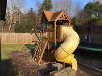 Kids Fort swing slide set