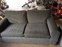 Three seater sofa and 1 chair,