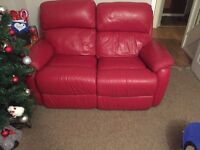 Read leather recliner sofa