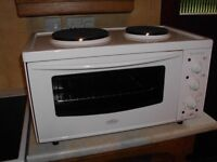 Mini Oven & Grill with Double Hot Plates