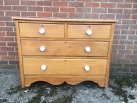 Old Antique Vintage Country Chest Of Drawers