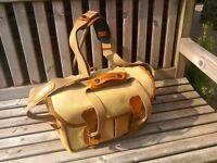 Billingham Camera bag. Canvas and leather.