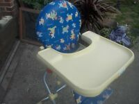 BREVI BABY HIGH CHAIR - VGC - EASILY FOLDS DOWN FLAT ** CLACTON ON SEA - CO15