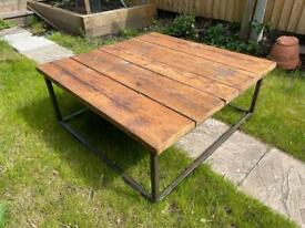 Coffee table - industrial style reclaimed wood