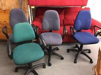 Various computer desk gas operating chairs £5 each