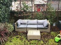 Garden outdoor sofa and table