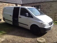 vito van 2.2 lwb 2006 two side doors 6 speed runs and drives very well/ conversion/day van