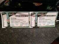 2x tickets to see The Script