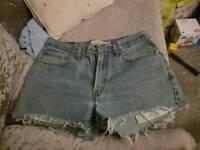 Womens Levi reworked denim shorts