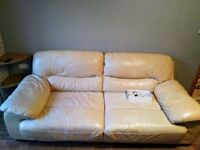 Italian Leather large 3 seat sofa from Dfs