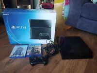 PS4 500 gb Console and 2 games
