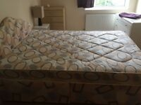 Very comfy double bed and mattress with free wardrobe