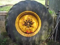 JCB wheel and front tyre