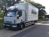 2008 08 reg Iveco eurocargo 120E22 euro5 12ton furniture removals lorry side doors tail lift