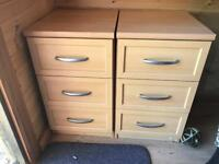 Bedside table / drawers ... office drawers x2