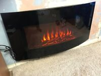 Wall mounted remote control electric fire