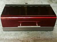 Red metallic breadbin