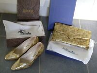 Renata Italian leather shoes and clutch bag