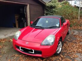 2002 TOYOTA MR2 ROADSTER CONVERTIBLE 1.8 VVTI 140 BHP MANUAL IN RED BREAKING FOR PARTS & SPARES