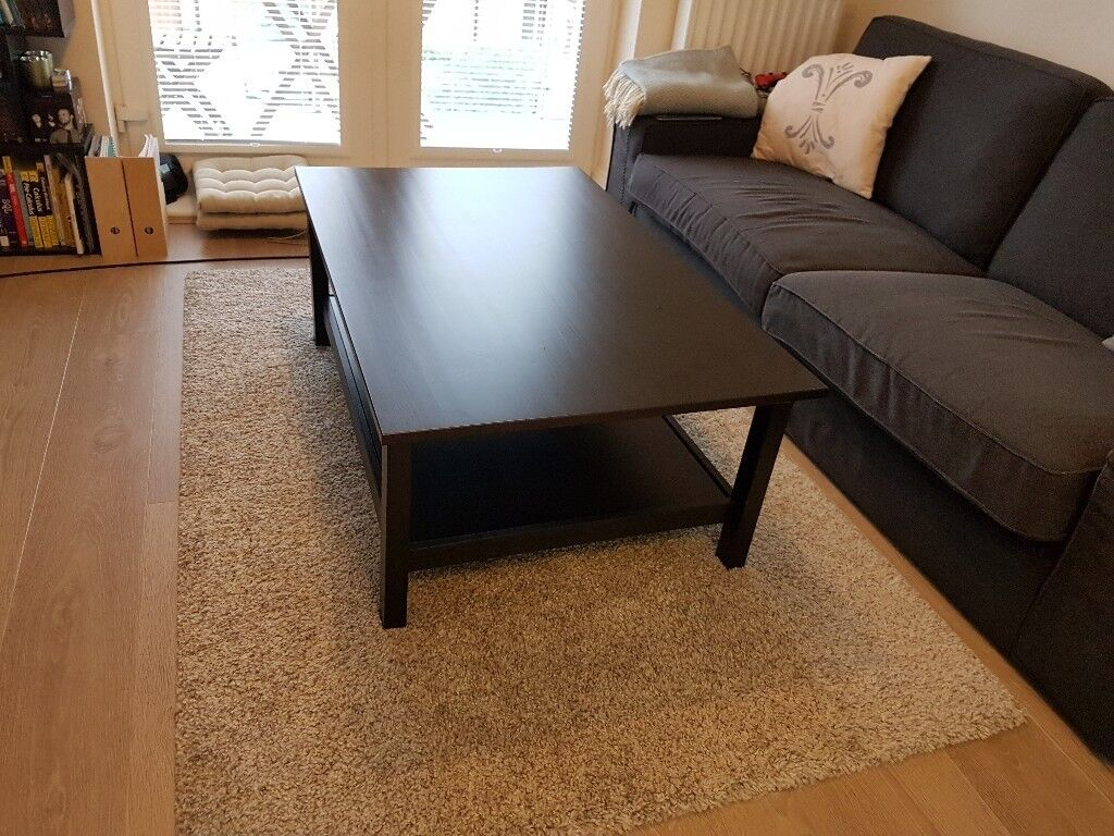 Ikea Hemnes Coffee Table Black Brown Good Condition In