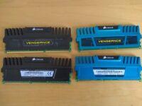 Corsair Vengeance 8gb (2 x 4gb) DDR3 1600MHz x 2 (total of 16gb)