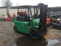 HYSTER 6 TON GAS COMPACT FORKLIFT RECENTLY REFURBISHED