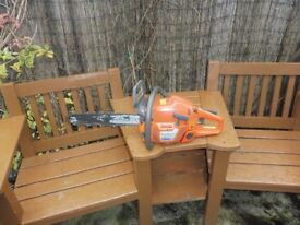 """HUSQVARNA 345 CHAINSAW WITH 15"""" BAR AND NEW CHAIN"""