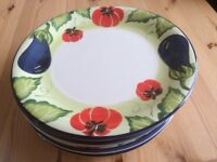 Hand painted plates and bowls