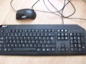Acer computer keyboard and mouse